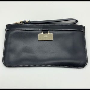 Kate Spade Navy Leather Wristlet As Is
